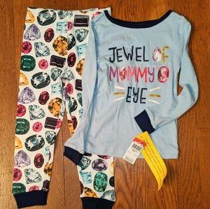 NWT Wonderkids Jewel of Mommy's Eye 3T PJs